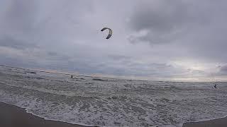 Анапа.    25.12.18г    Шторм.   Песочный и галечный пляжи.