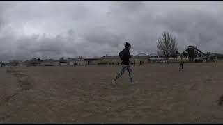 Штормящее море в Анапе в марте (панорамное видео)