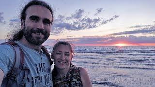 Анапа 1.07.2018 Море, центральный пляж, шторм, погода, вечерняя прогулка по центру курорта