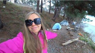 Нудистский пляж Сочи. Туристы в палатках зимой Уч-Дере. Пляж Санатория Семашко.