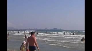 Анапа 2016 ДЖЕМЕТЕ Видео Шторм Черное море Песчаный пляж возле Аквапарка Тики Так