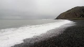 Чёрное море, пляж долины Сукко, Анапа 8.01.2019