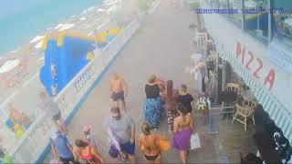 Утро в Лазаревском и Адлере 1 июля 2018 пляж набережная