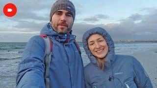 Анапа 1.01.2018 Погода, море, шторм, центральный пляж. Детский парк в Анапе