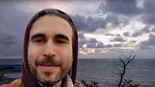 Анапа 27.10.2017 Вечерняя прогулка погода море закат пляж набережная Малая бухта фонтаны Эфир