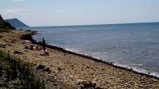 Пляж в Анапе после шторма.
