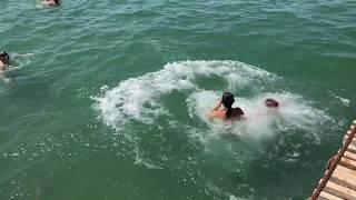Пляж на Чёрном море в Анапе (август 2018)