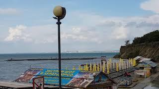 #АНАПА- где купаться в ШТОРМ - Пляж высокий берег