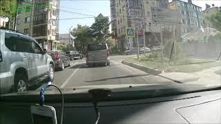АНАПА: Авария на пересечении улиц Самбурова и Краснозеленых (21.08.2017)
