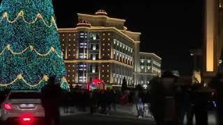 Самая красивая елка город Душанбе Таджикистан