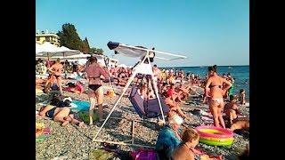 Пляж 9 утра в Лазаревском 3 Сентября 2018 #Webcamslazarevckoe