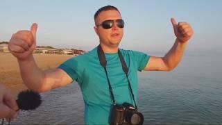 Юра фотографирует На Закате. пляж Кавказ в Витязево. Рак отшельник. Отзыв об отдыхе