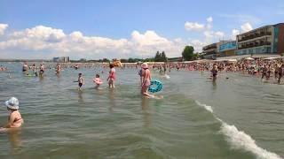 Анапа сегодня. Шторма нет! Городской Центральный песчаный пляж в 12:00 во вторник 6 августа 2019 г.