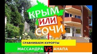 Крым или Краснодарский край 2019 ☀️ Сравниваем курорты. Массандра и Анапа