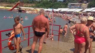 Пляж Малая Бухта в Анапе - купание после холодного течения 11.07.18