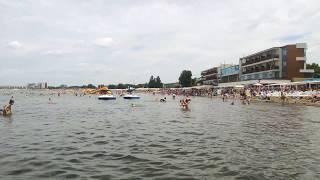 Анапа сегодня 2 августа 2019 г. в пятницу. Городской Центральный песчаный пляж в ~14:00. UHD 4K30.