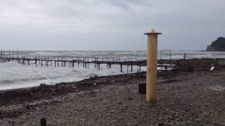 Шторм в Архипо-Осиповке 04.01.19 / Центральный пляж