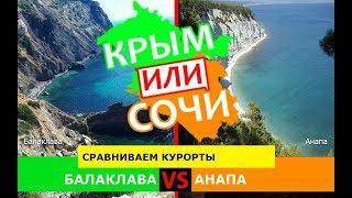 Балаклава или Анапа | Сравниваем курорты! Крым или Сочи - сравнение в 2019?