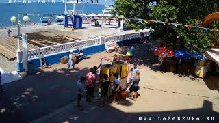 ✦Пляжи Лазаревского р-на вебкамера 2 июня 2018