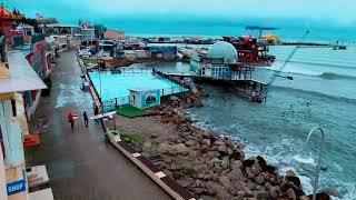 Анапа море волнуется видео  12 февраля 2018  центральный пляж и Малая Бухта