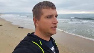 Анапа. Погода. 29.10.2017 Витязево пляж от центрального до Аквамарина