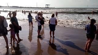 Затопило песчаный пляж Анапы