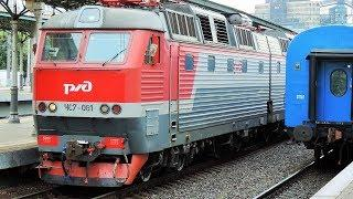 ЧС7-081 С поездом Варшава — Москва (Белорусский вокзал)