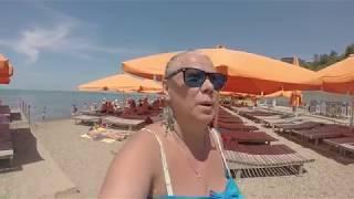 Анапа галечный пляж .ВЫСОКИЙ БЕРЕГ 2017г.