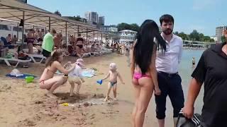 АНАПА 06 июня 2018 погода море центральный пляж Много людей ТИНА ?