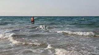 Купание в море 7.30 утра 23.09.2018 пляж Venera Resort. #Анапа #ВИТЯЗЕВО #Джемете