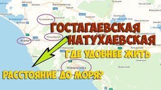ГОСТАГАЕВСКАЯ vs НАТУХАЕВСКАЯ   станица для переезда   расстояние до моря  Советы для переезда на Юг