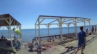 Анапа видео  май 2018  дикий пляж  ул 40 лет Победы