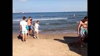 Чистейшее и теплющее море в Анапе 1 августа 2019 и прогулка по утренне Анапе.