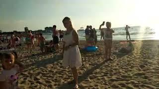 #Анапа 7 июля 2019г.  Море возле речки Анапки вечером (видео от подписчицы)