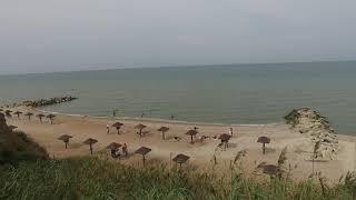 Пляж Тиздар на Азовском Море возле грязевого вулкана
