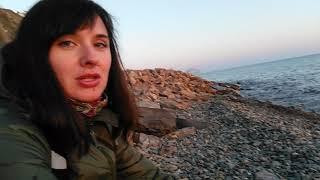 Галечный пляж Анапы.
