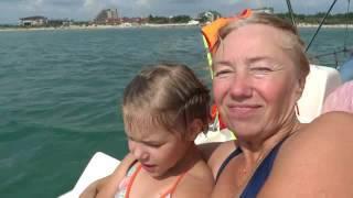 Сегодня чистое море Анапы. Купание на катамаране. 02.07.2016