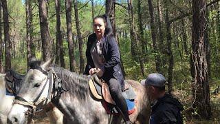 VLOG Как я впервые села на лошадь. ???? Геленджик конные прогулки 2018 Прасковеевка