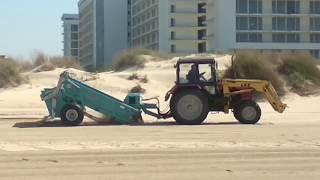 АНАПА ???? КАК ЧИСТЯТ ПЛЯЖ ???? и как уничтожают дюны // 24 апреля 2018 года